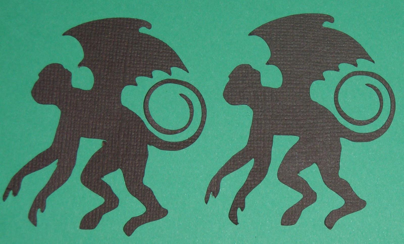 wizard of oz clipart flying monkeys #6