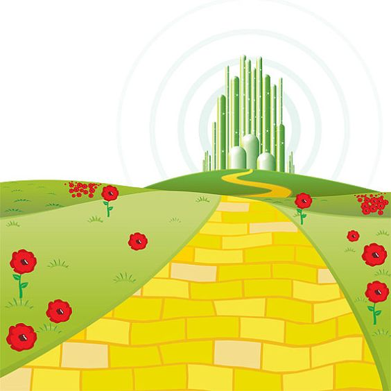 Wizard of oz clipart yellow brick road free 4.