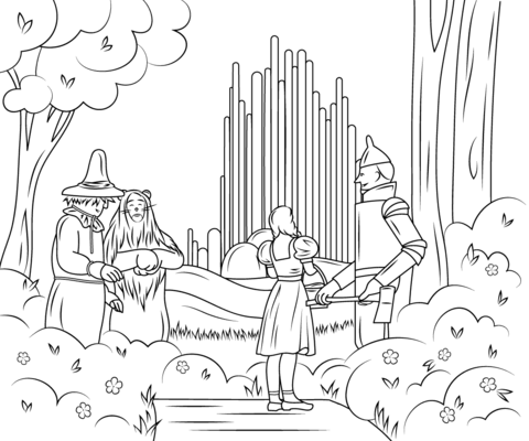 Wizard of Oz Emerald City coloring page.