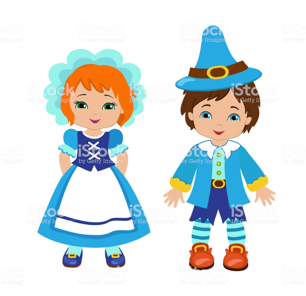Lovely Munchkins Boy And Girl Characters From A Fairy Tale Wizard Of.