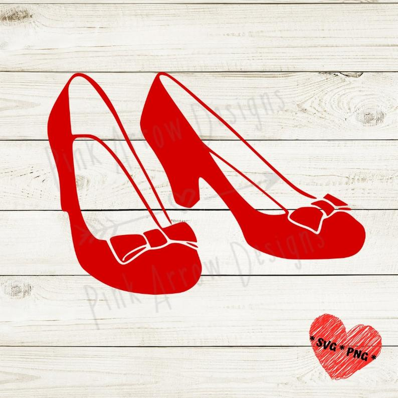 Ruby Red Slippers svg, Dorothy shoes svg, Red shoes svg, Wizard of Oz svg,  Red slippers svg png cutting files for Cricut Silhouette,red shoe.