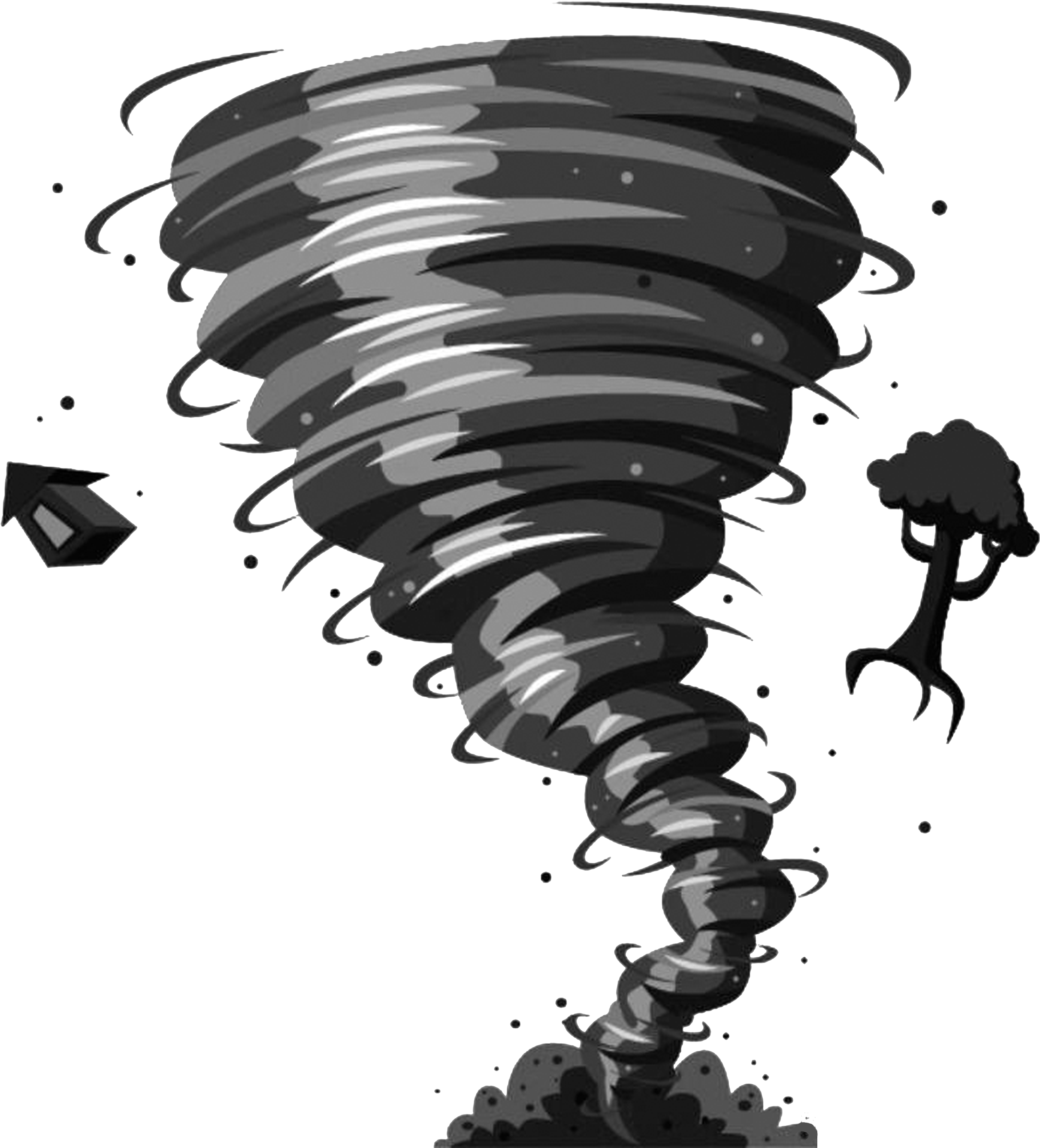 HD Wizard Of Oz Tornado Cartoon , Png Download.
