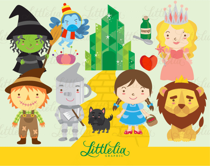 Wizard Of Oz Characters Clipart.