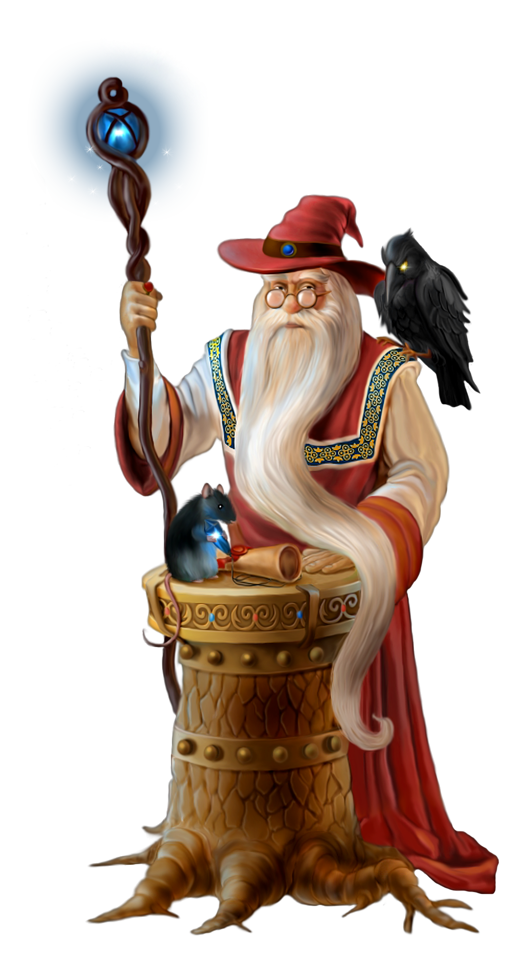 Transparent Wizard PNG Picture.