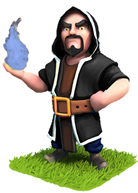 A wizard ready to fight at level 5.