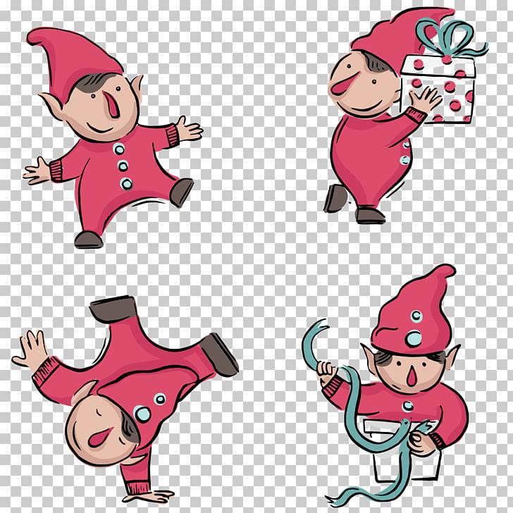 Santa Claus Christmas ornament Illustration, Hand.