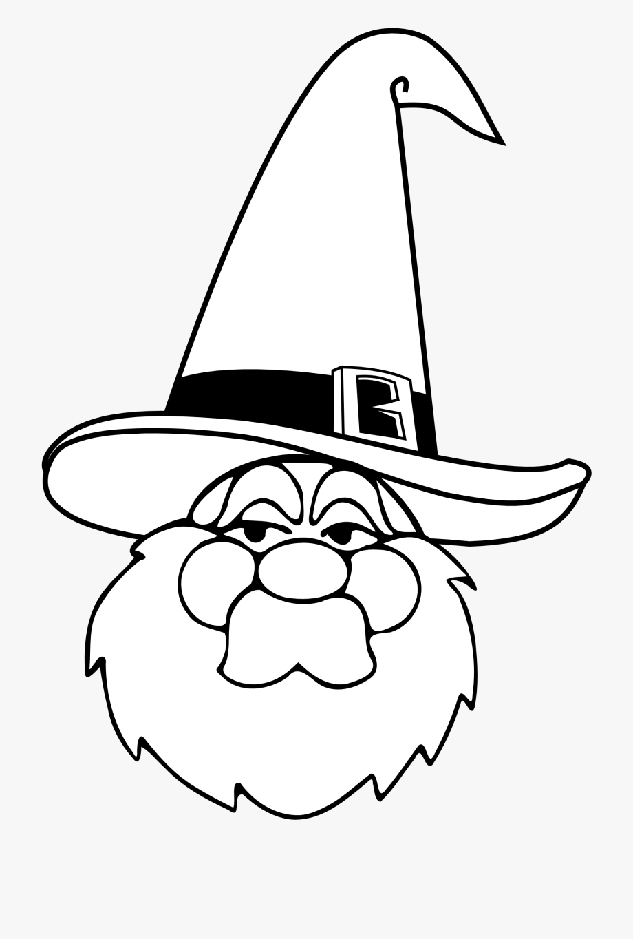 Wizard Blue Hat Black White Halloween 1969px 239.