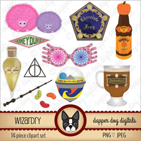 Wizardry Clipart Set.