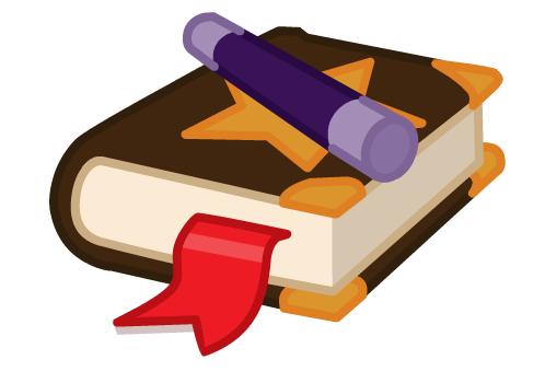 Spell Book Clipart.