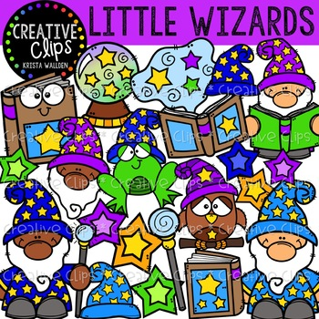 Little Wizards Clipart {Creative Clips Clipart}.