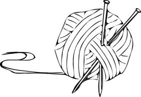 Free Knitting Clipart Black And White, Download Free Clip.