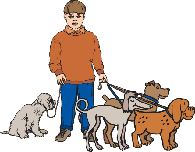 Walking dogs clipart 3 » Clipart Station.