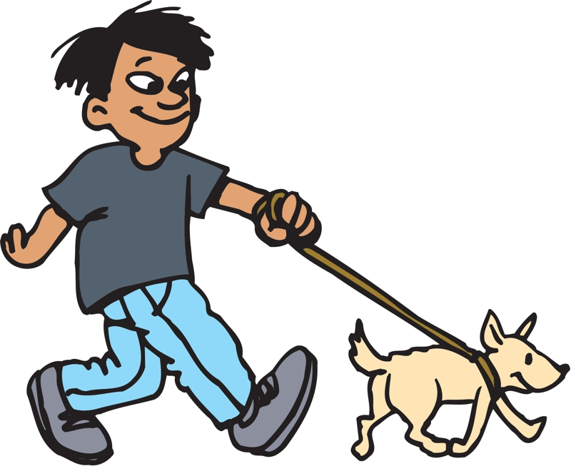 Download boy walking dog clipart Dog walking Clip art.