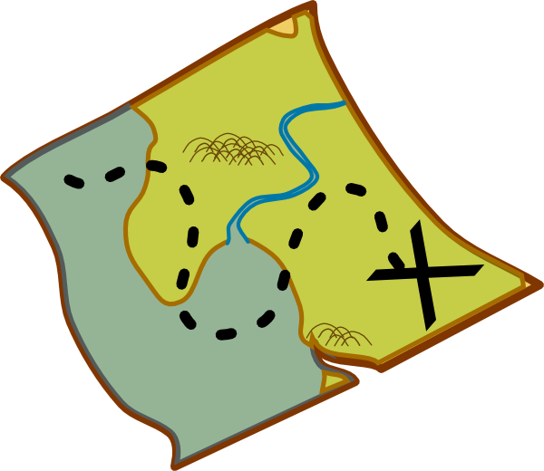 Pirate Treasure Map Clipart.