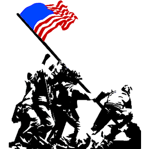 Raising the flag on iwo jima statue clipart.