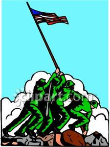 Iwo Jima Memorial Or Monument Royalty Free Clipart Picture.