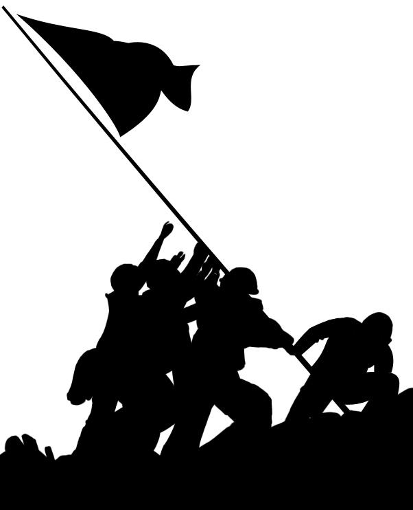 Iwo jima flag raising clipart.
