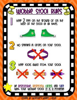 Wobble / Hokki Stool Rules Poster.