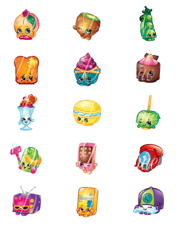 Shopkins characters wobbles clipart.