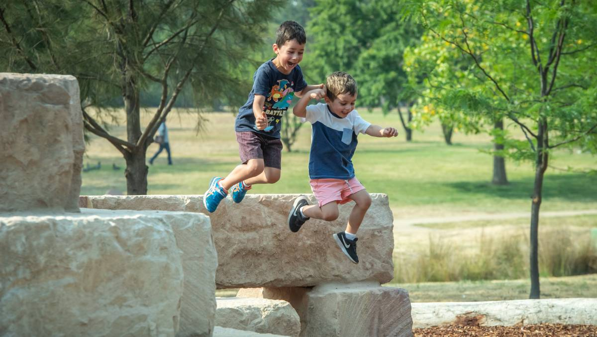 New nature play areas opened in Woden and Civic.
