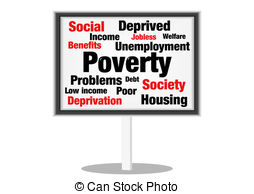 Stock Illustrations of Poverty Grunge Background in Black Harsh.