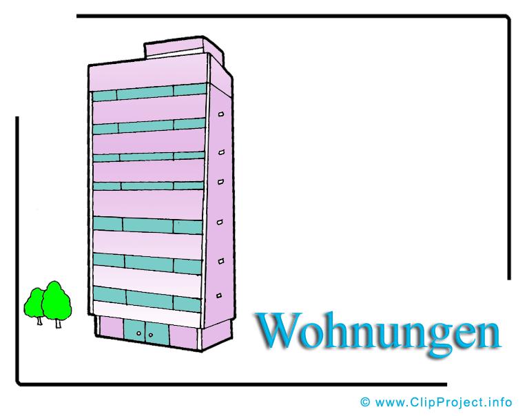 Wohnungen Clipart Bild Hochhaus.