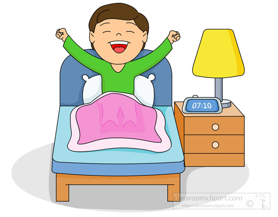 Boy Waking Up Clipart.