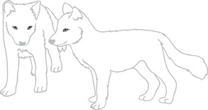 Wolves clipart image a group of wolf pups.