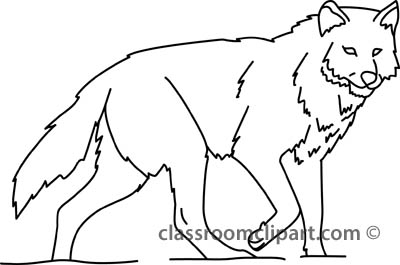 Wolf Black And White Clipart#2051675.