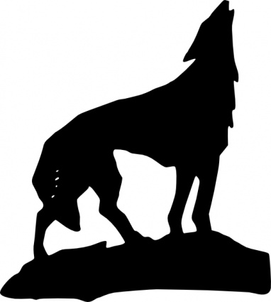 Wolf Clip Art Black And White.