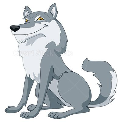 Gray Wolf Clip Art, Royalty Free Cartoon Wolf Stock Image.