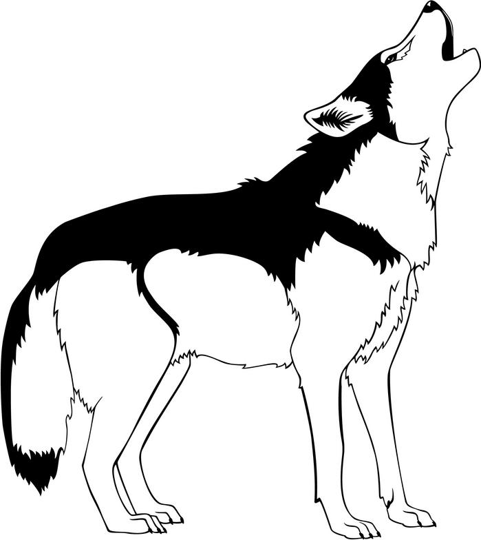 Howling Wolf Clipart.