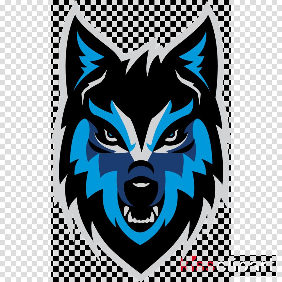 head logo emblem wolf sticker clipart.