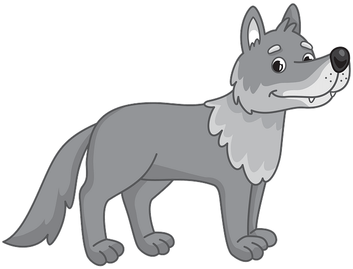 Wolf clipart. Free download..