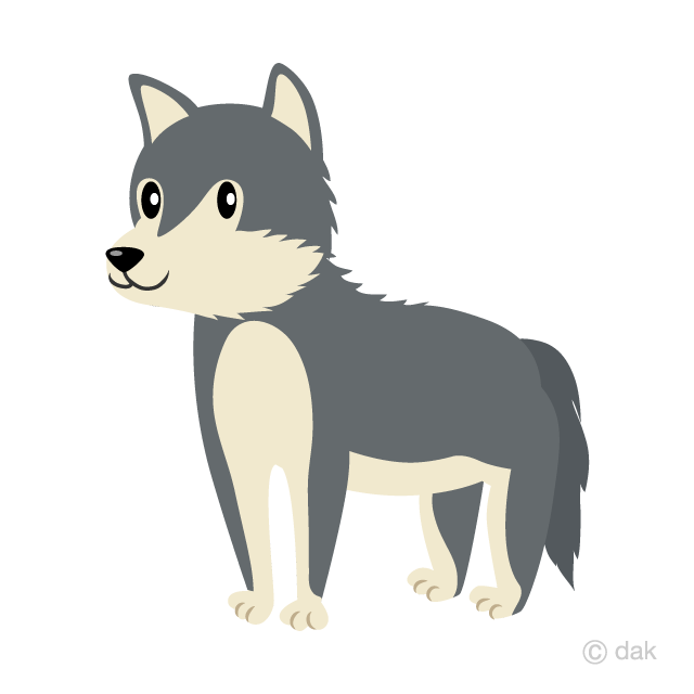 Cute Wolf Clipart Free Picture Illustoon.