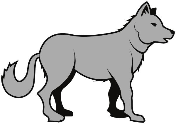 Gray wolf Clip art.
