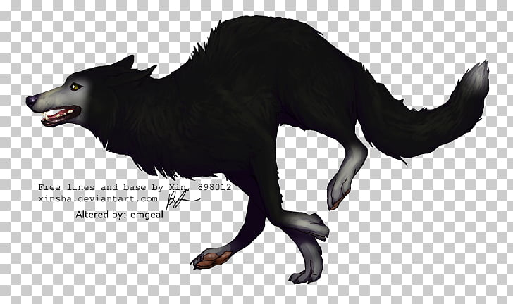 Siberian Husky Black wolf Jacob Black Puppy Drawing, running.