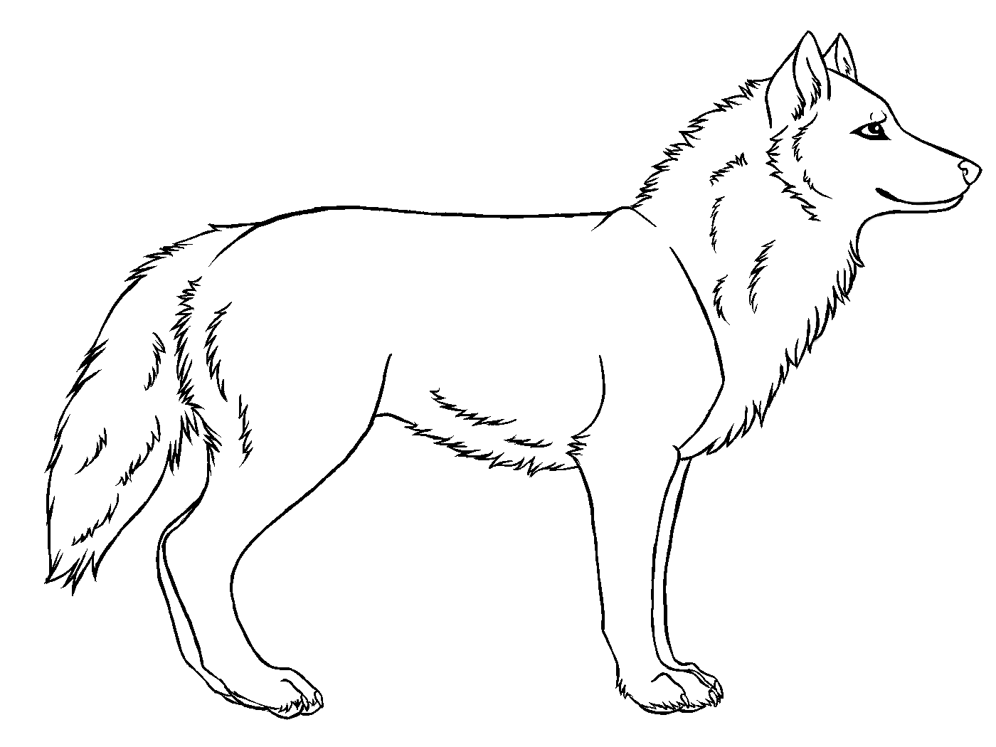 Free Simple Drawings Of Wolves, Download Free Clip Art, Free.