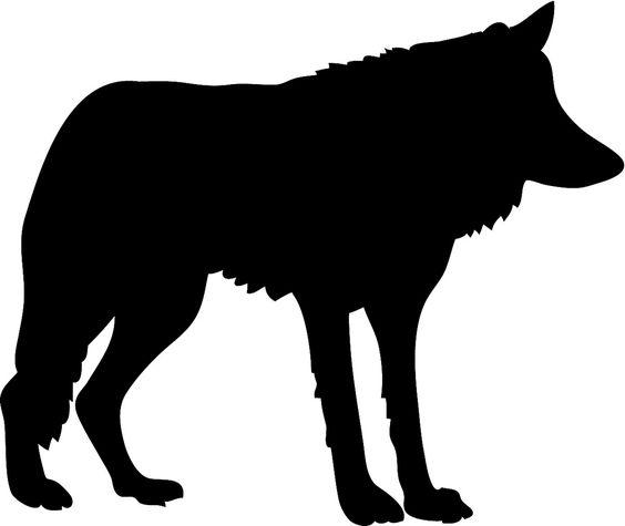 b>Wolf</b> <b>silhouette</b> black.