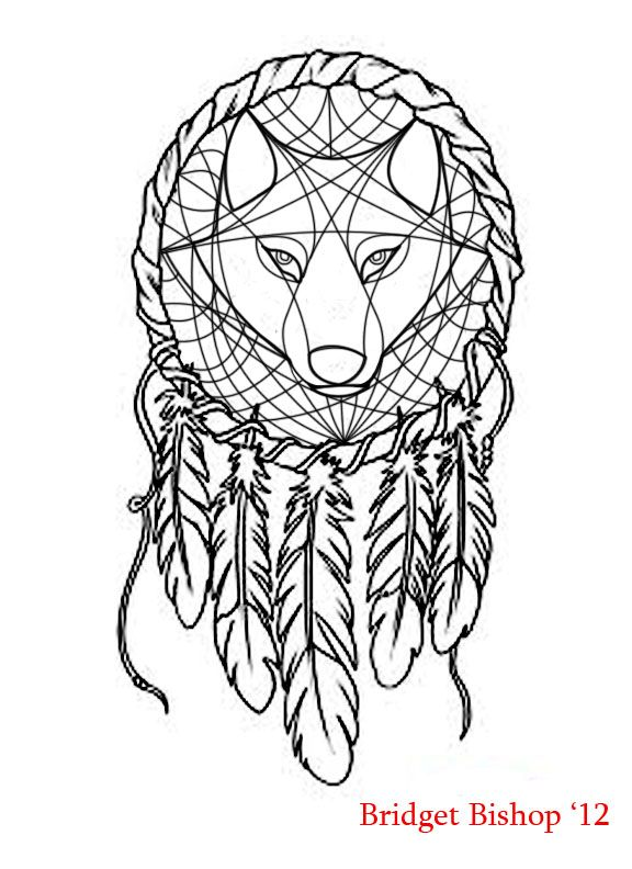 dreamcatcher tattoo template - wolf dream catcher clipart clipground