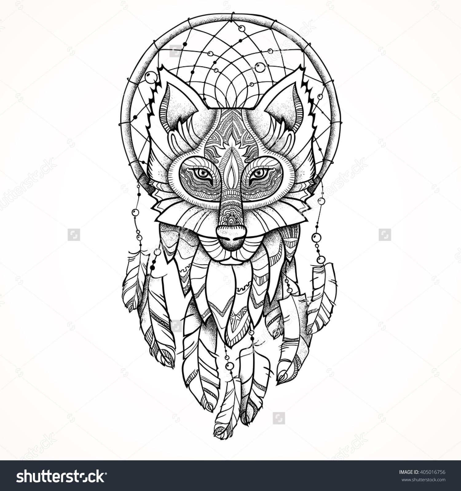 Wolf Dream Catcher Clipart Clipground