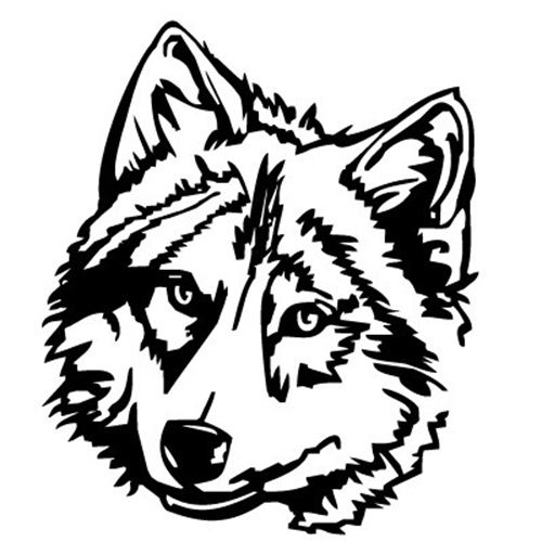 526 Wolf Head free clipart.