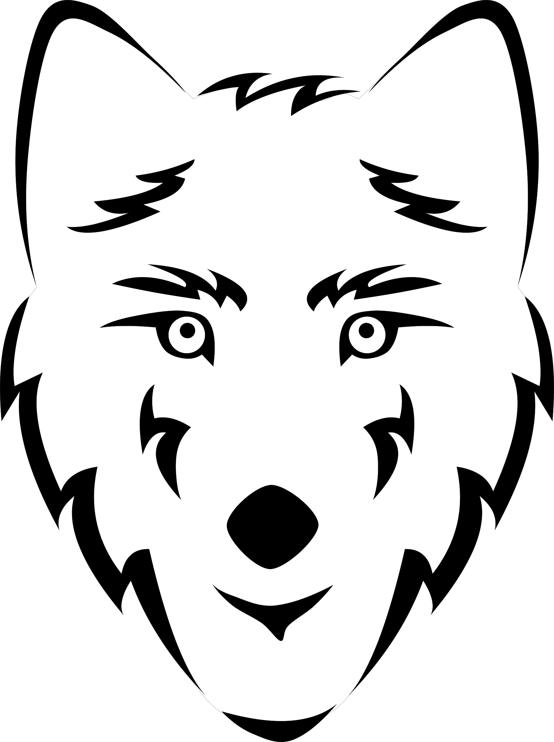 Wolves clipart nose, Wolves nose Transparent FREE for.