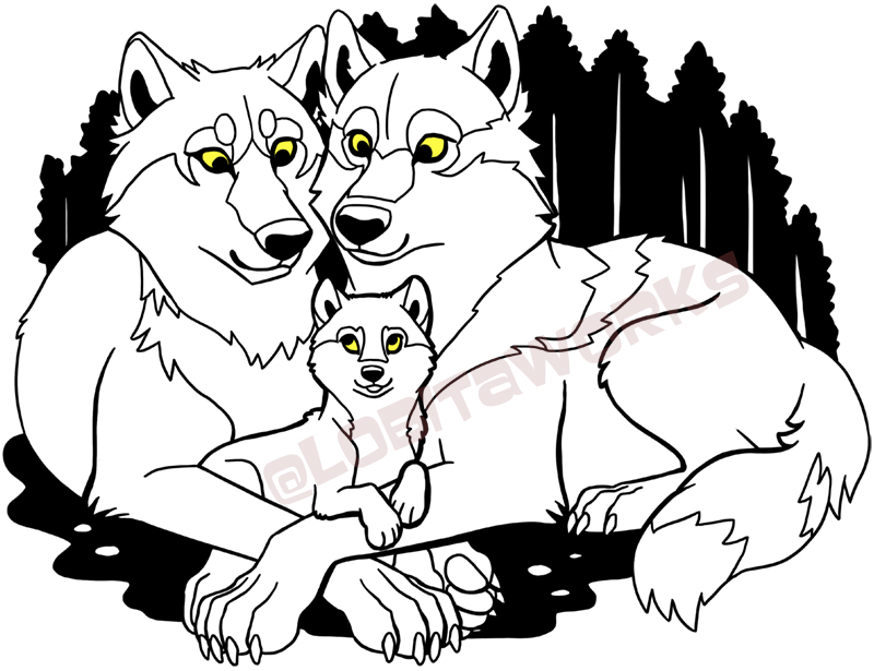 Wolf Family (Merch Available) — Weasyl.