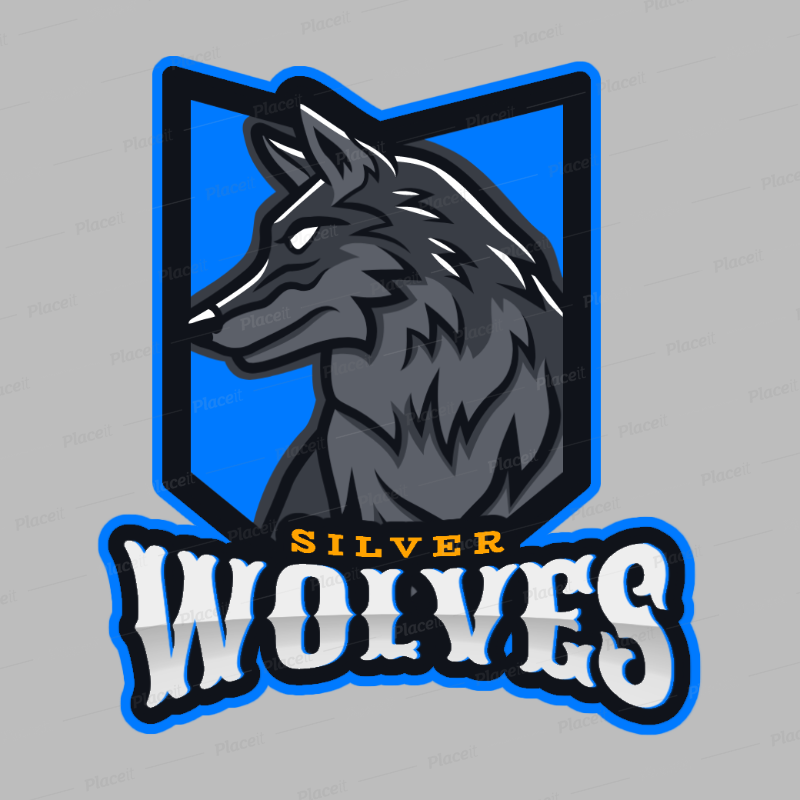 Gaming Logo Maker Featuring a Silver Wolf Graphic 2680o.