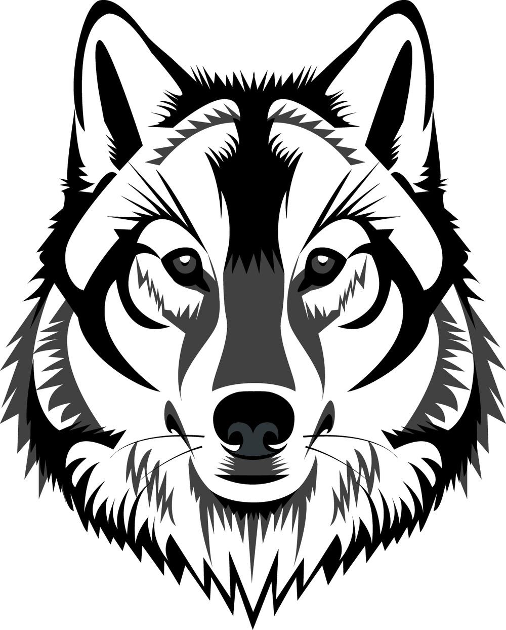 White Wolf Clipart Wolf Head.