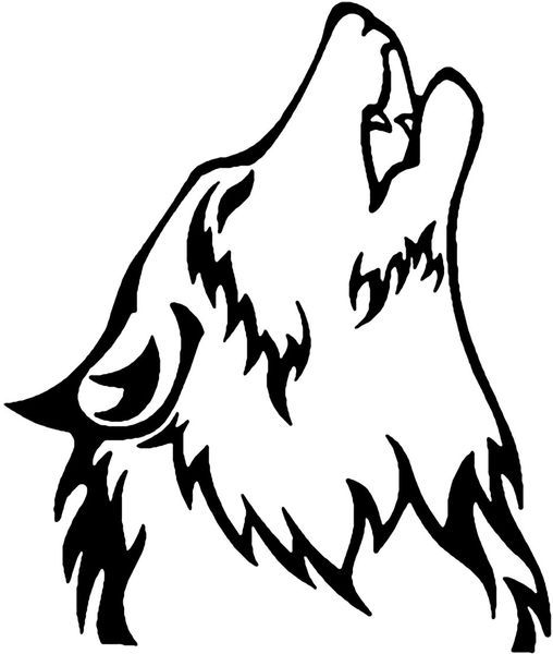 Howling Wolf Head Silhouette at GetDrawings.com.