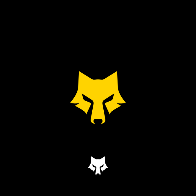 Stylized Wolf Head Logo Re.
