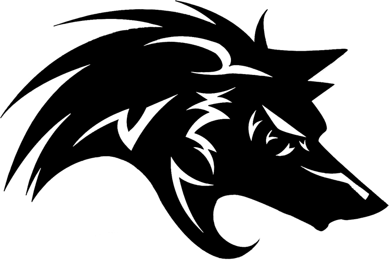 Gray wolf Black wolf Logo.