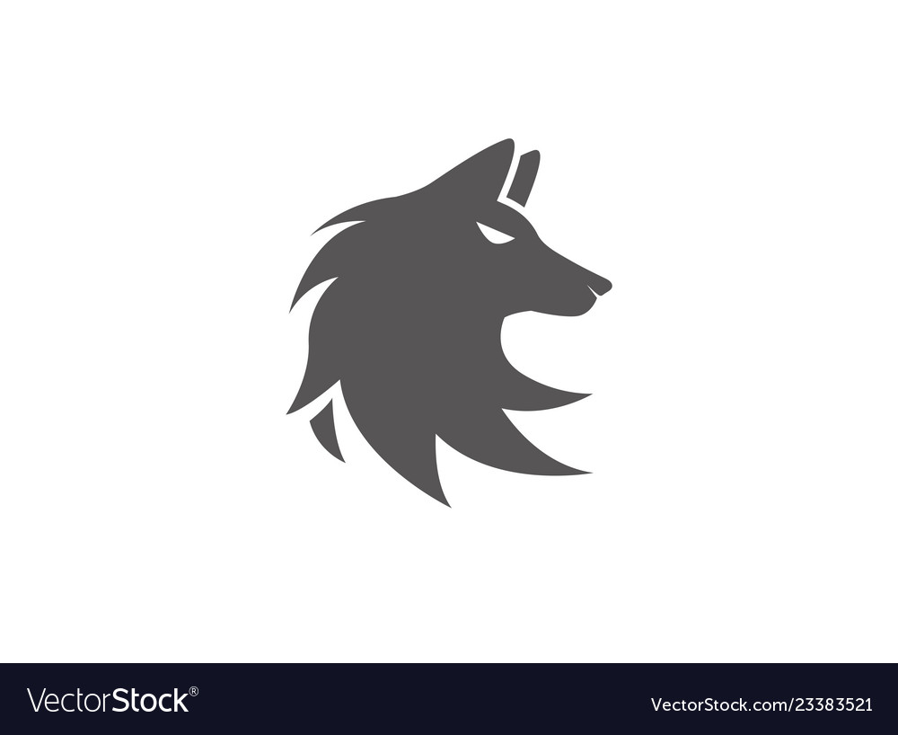 Wolf head logo fox face design.